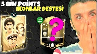 EFSANE İKON KART ÇIKTI ! 5000 POİNTS 'lik İKON PAKET AÇILIMI !! Fifa Mobile