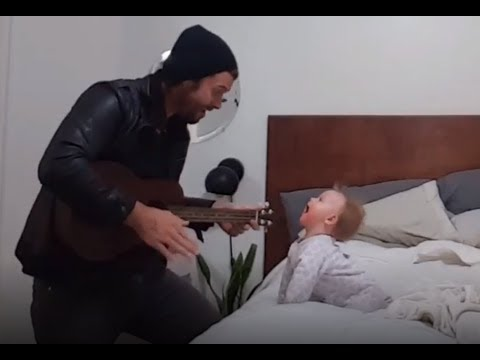 Dad, Guitar, Baby - Watch How It All Works Together!