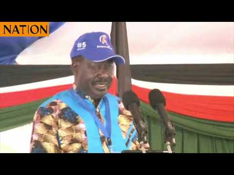 ODM party leader Raila Odinga lays down his economic blue print for Nyanza region