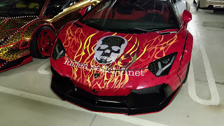 Crazy Secret Yakuza Lamborghini Parking Lot Tokyo