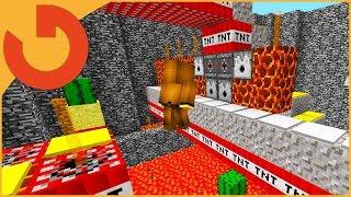 NOOB vs IMPOSSIBLE TNT RUN! (Minecraft Trolling)