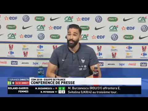 Adil rami en conférence de presse