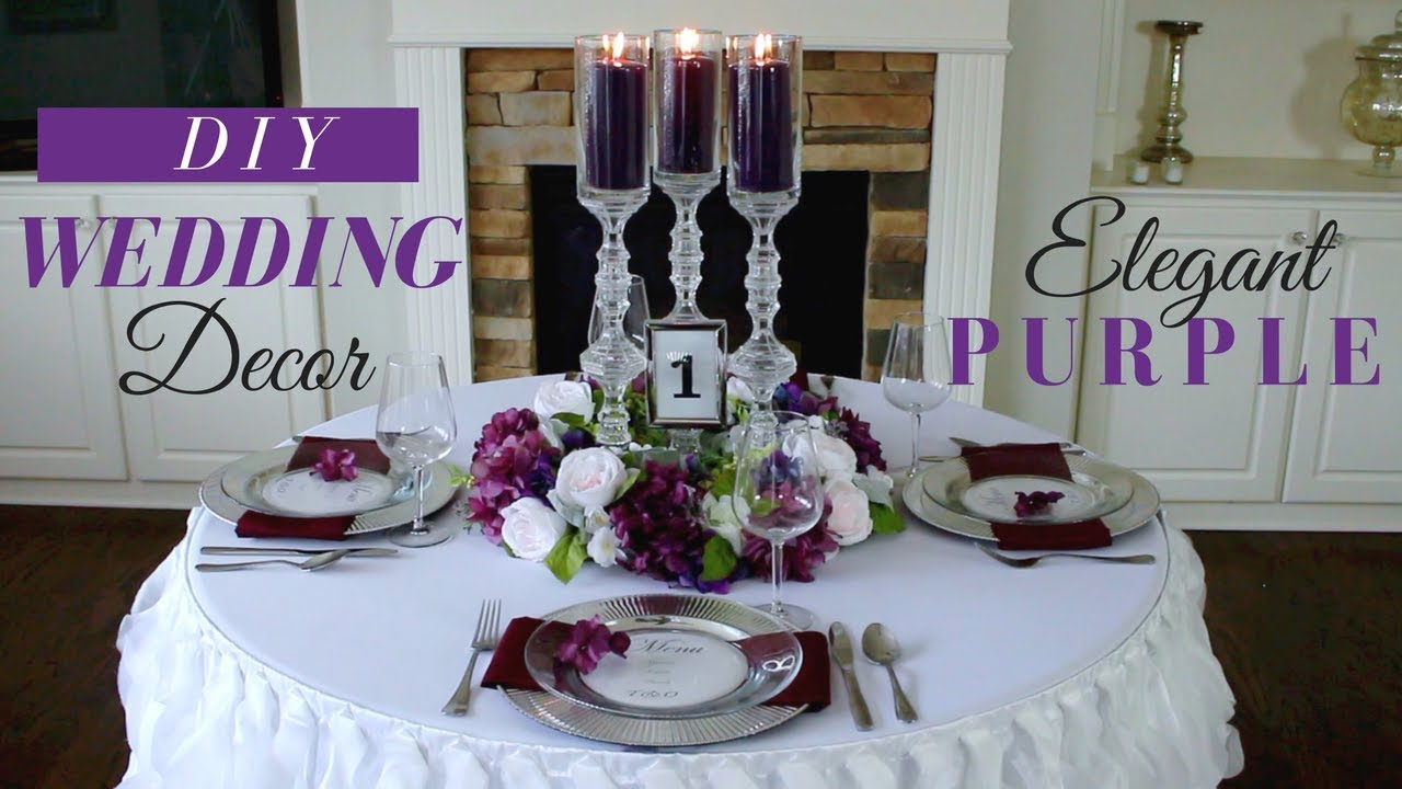 wedding reception decoration ideas diy diy wedding reception decoration purple 9876