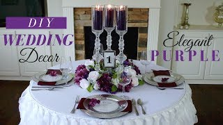 Elegant Diy Wedding Centerpieces | Purple Wedding Decoration Ideas