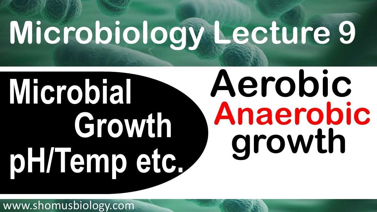 Microbiology lecture 9 | Microbial growth aerobic, anaerobic | effect of  pH, temperature