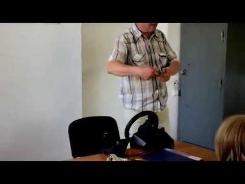 1-й урок по вождению г. Житомир