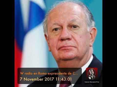 W radio en Roma expresidente de Chile Ricardo Lagos con Nestor Pongutá