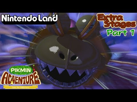 Nintendo Land - (Co-op) Pikmin Adventure - Extra Stages (Part 1)
