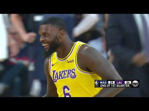 Lance Stephen Breaks Jeff Green's Ankles, Lakers Bench Goes Wild - Wizards vs Lakers