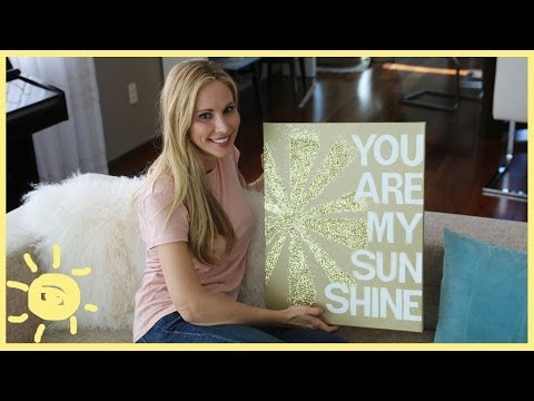 DIY | QUOTE ON CANVAS (cute, easy art!)