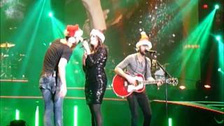 "Lady Antebellum singing ""Blue Christmas"" in Morgantown, WV"