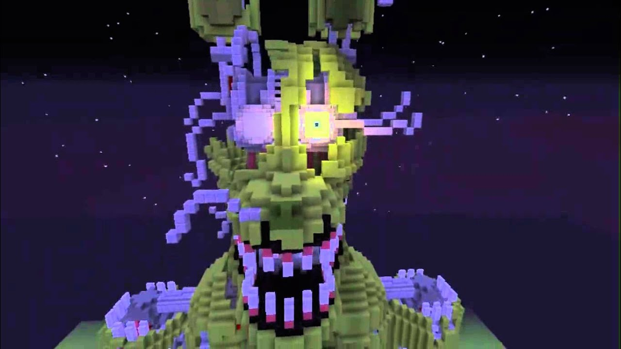 Nightmare Springtrap  Fan Made  Minecraft Review