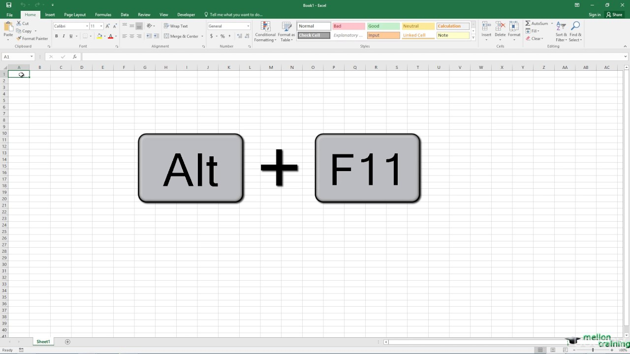 How to Hide the Status Bar in Excel