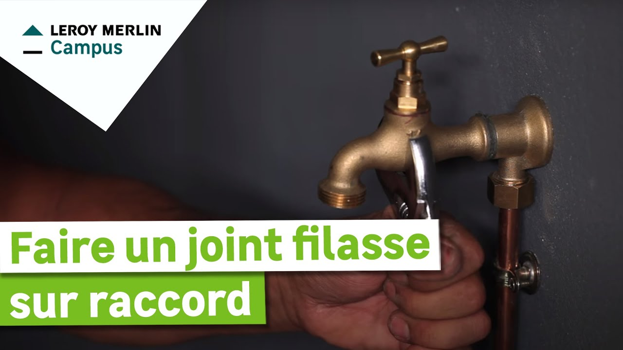 Faire Un Joint Filasse Sur Raccord
