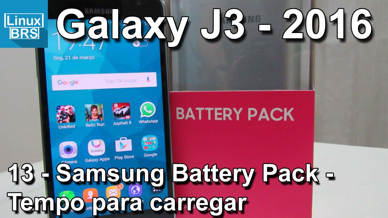 Samsung Galaxy J3 2016 - Battery Pack - Tempo para carregar - Português