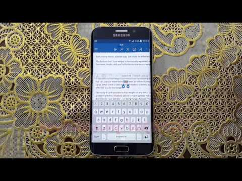 Microsoft Word For Android : How To Make Strikethrough Text On Samsung Galaxy S6