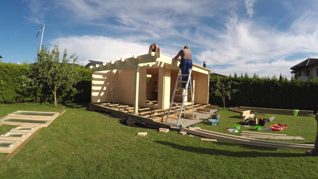 How to install build a Log Cabin Summer House Garden Room