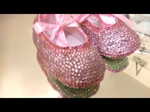 Customised Crystal Baby Ballet Shoes