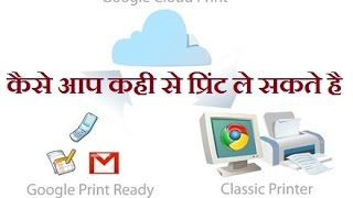 Google Cloud Print - Anywhere from any location  in hindi