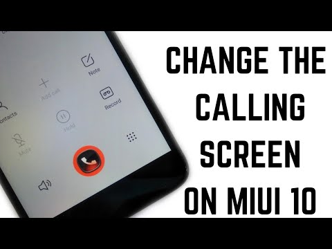 How to Change Incoming/Outgoing Caller Screen On Miui 10!CALLER SCREEN