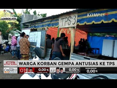 Warga Korban Gempa di Lombok Antusias ke TPS