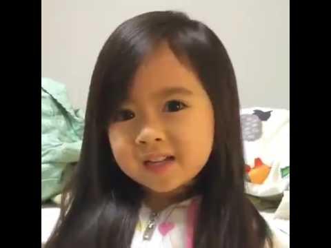 Cute baby girl say good nighy