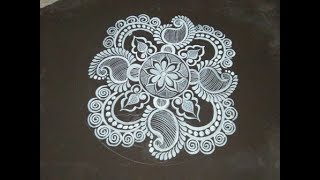 RANGOLI ART WITH BRUSH / KOLAM DESIGN/JYOTI OR CHITA DESIGns/JALPANA ART WITH BRUSH/SUPER RANGOLI