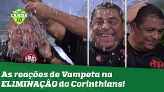 HILÁRIO! Vampeta JOGA CONFETE, mas depois vê Corinthians ser ELIMINADO da Libertadores!