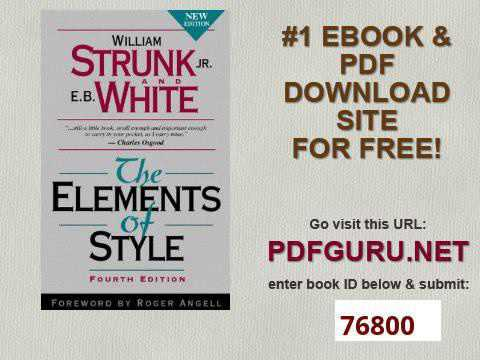 The Elements Of Style Fourth Edition Youtube