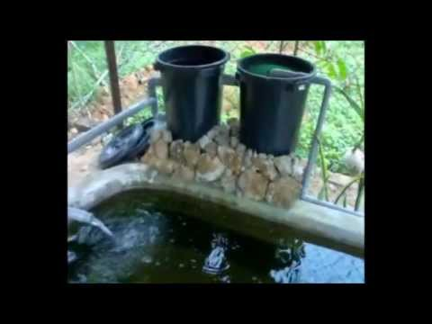 Homemade cheap bio filters for ponds youtube for Cheap pond filter