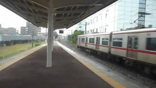 名鉄知多半田駅急行新鵜沼行き到着