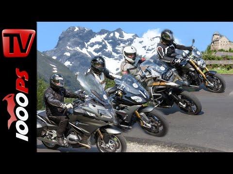 BMW Boxer Vergleich Alpen | R 1200 R, R 1200 RS, R 1200 RT, GS Adventure