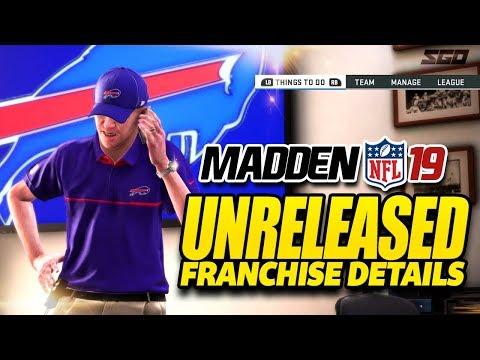 Madden 19 Unreleased Franchise & Gameplay Details
