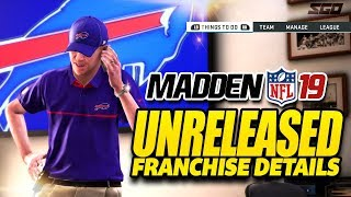 Madden 19 Unreleased Franchise & Gameplay Details