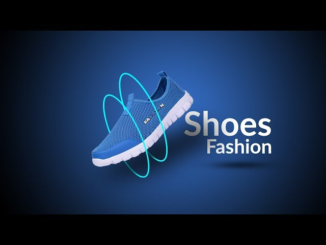 shoes creative poster design in Photoshop CC 2019 tutorial