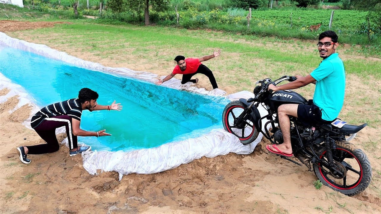 Riding Our Ducati Bike Underwater   क्या पानी के अंदर बाइक चल पायेगी ? Band Bajj Gayi😂
