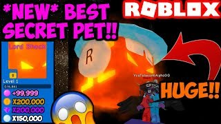 THE LORD SHOCK!! NEW BEST SECRET PET!! (Bubble Gum Simulator Roblox)
