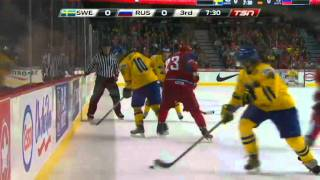 Ishockey - JVM-final : Sverige vs Ryssland 1-0 (2012-01-06)