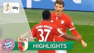 FC Bayern München - FC Augsburg 3:1 | Highlights DFB-Pokal 2016/17 - 2. Runde