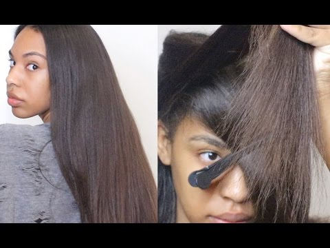 How to Trim Natural Hair to Retain Length- Cut Split ends & Single Strand Knots