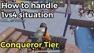 How to handle 1vs4 situation | PUBG Mobile
