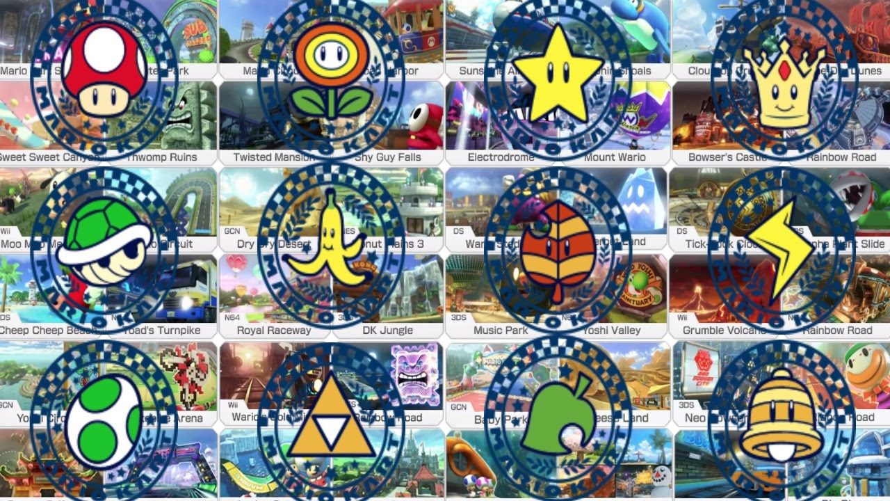 Mario Kart 8 All 48 Tracks On 200cc 1080p 60fps Youtube