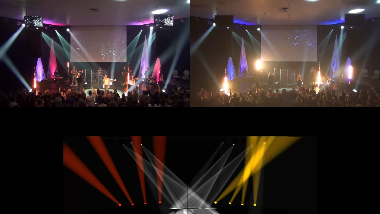 Real love visualizer live v1 & v2 comparision lighting design