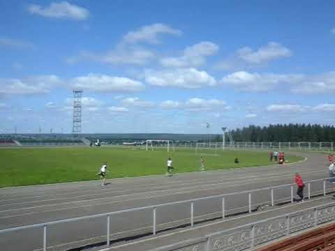 бег 100 метров Районные сельские игры п.Игра Удмуртия 2019 год