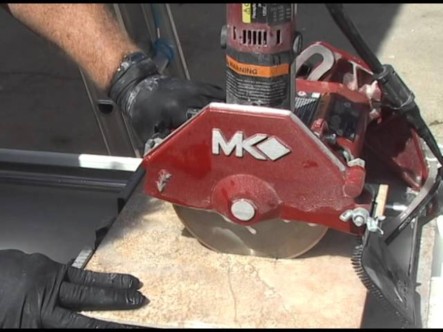 mk 370exp wet cutting tile saw youtube