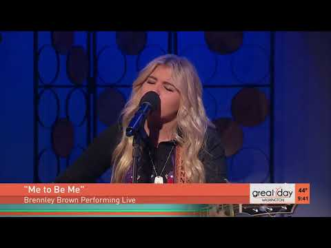 Rising country star Brennley Brown performs Me to Be Me