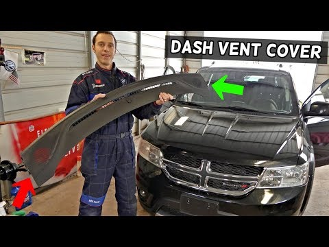 DODGE JOURNEY DASH SPEAKER COVER VENT REMOVAL REPLACEMENT. FIAT FREEMONT