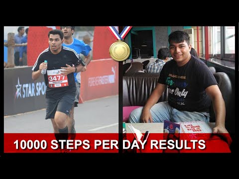 Walking 10000 Steps Per Day At Home Weight Loss in Hindi (Calories Burned)