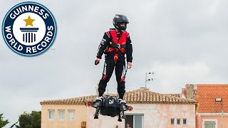 Farthest flight by hoverboard - Guinness World Records