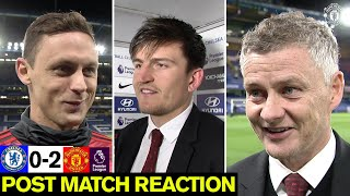 Solskjaer, Matic and Maguire react to Chelsea win | Chelsea 0-2 Manchester United | Premier League